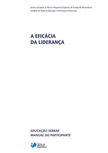 Curso A Eficácia da Liderança - MANUAL DO PARTICIPANTE