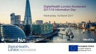 DigitalHealth.London Accelerator 2017/18 Information Day