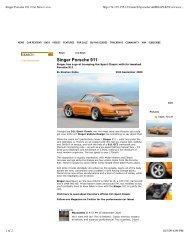 Singer Porsche 911   Car News   evo - Singer Vehicle Design