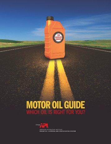 MOTOROILGUIDE - American Petroleum Institute