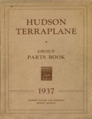 1937 Hudson-Terraplane Parts Bo