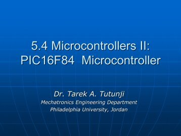 PIC16F84 Microcontroller - Philadelphia University