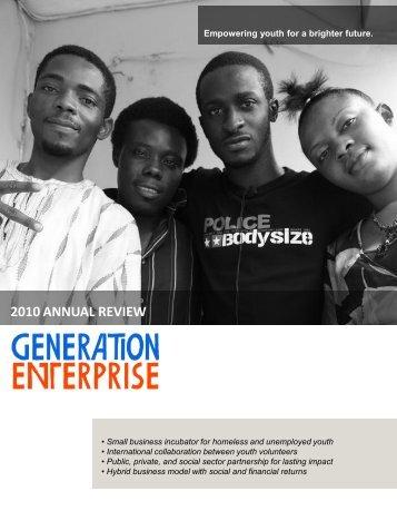 2010 ANNUAL REVIEW - Generation Enterprise