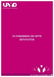 III CONGRESO DE UPYD ESTATUTOS