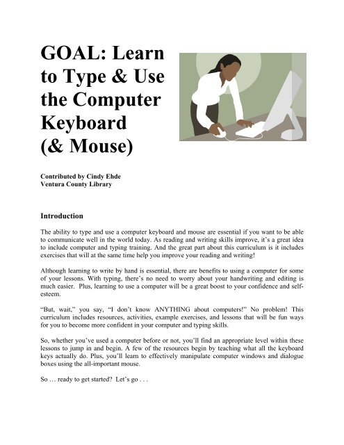 Learn to Type & Use the Computer Keyboard - California