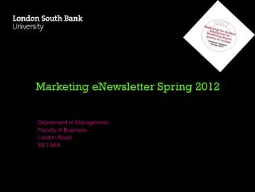 Marketing eNewsletter Spring 2012 - BouncingSprout