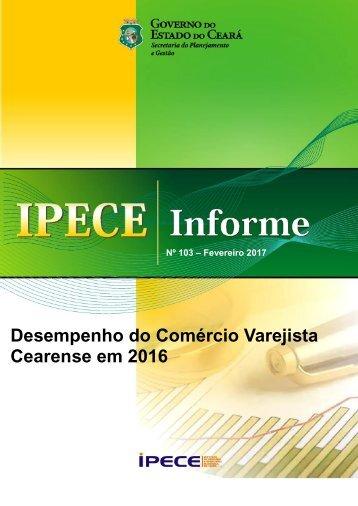 Desempenho do Comércio Varejista Cearense em 2016