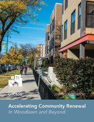 Accelerating Community Renewal - In Woodlawn and Beyond