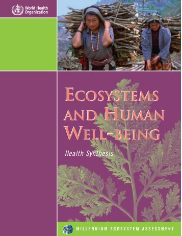 ecosystems and human well-being ecosystems and human well-being