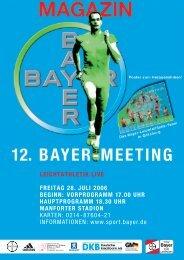 12. bayer-meeting leichtathletik live freitag 28. juli 2006 beginn