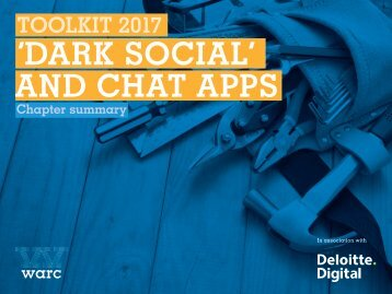 'DARK SOCIAL' AND CHAT APPS
