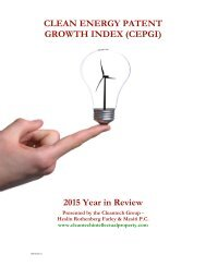 CLEAN ENERGY PATENT GROWTH INDEX (CEPGI) 2015 Year in Review