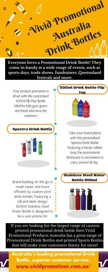 Shop For Promotional Drink Bottles From Vivid Promotions