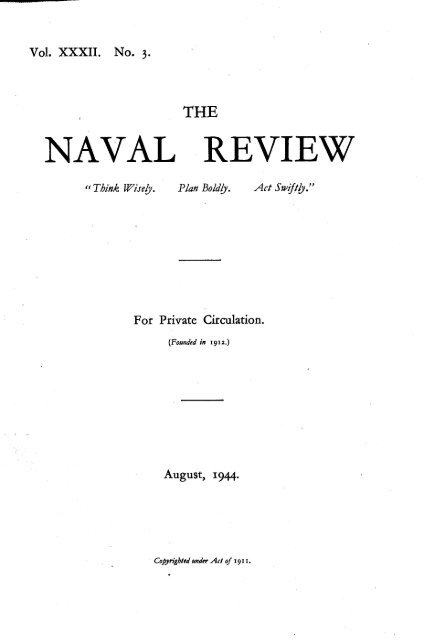 238 The Naval Review