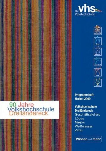 Programmheft Herbst 2009 Volkshochschule Dreiländereck ...