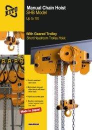 Manual Chain Hoist SHB Model - SPB KRAN doo