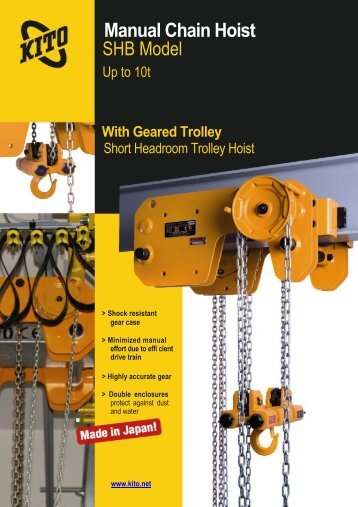Manual Chain Hoist SHB Model - SPB KRAN doo