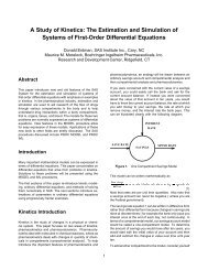 A Study of Kinetics: The Estimation and Simulation of Systems  of - SAS
