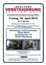 Katalog Wirth mit Aufrufpreise - Industrie Auktionen Bernhard Maier