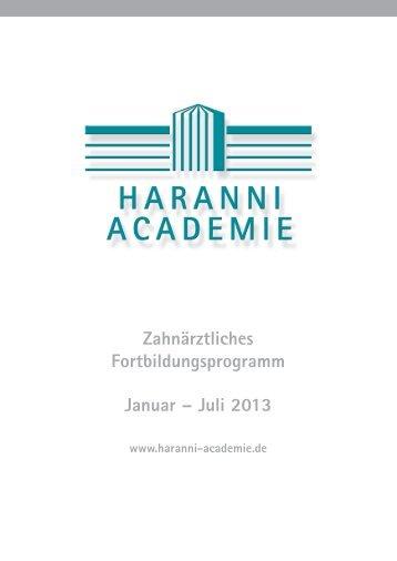 Programmheft - 1. Halbjahr 2013 - Dr. Hinz Unternehmen