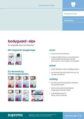 bodyguard - slips - Suprima GmbH