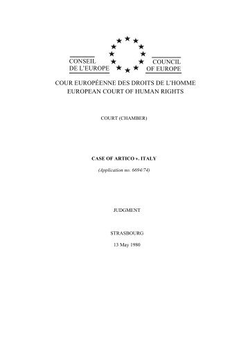 conseil de l'europe council of europe cour européenne ... - UniCEUB