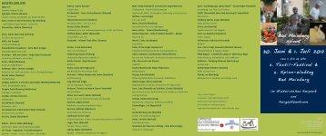 30. Juni & 1. Juli 2012 - Staatsbad Meinberg