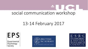 social communication workshop 13-14 February 2017