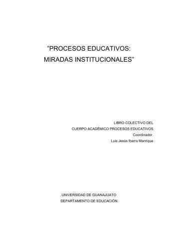 PROCESOS EDUCATIVOS: MIRADAS INSTITUCIONALES