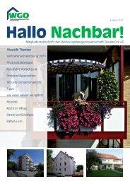 Hallo Nachbar! - Wohnungsbaugenossenschaft Osnabrück eG
