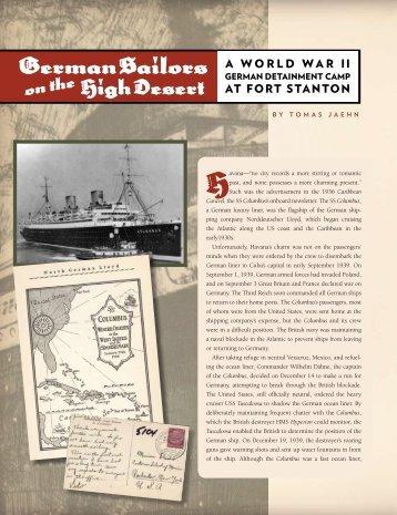 German Sailors on the High Desert - El Palacio Magazine