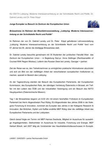 Bericht - Lansky Ganzger & Partner
