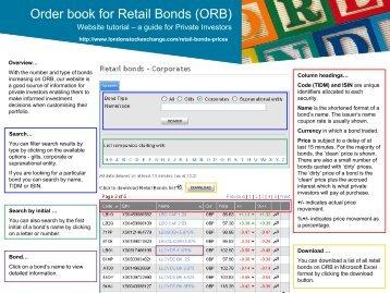ORB price page description - London Stock Exchange