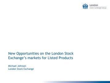 Michael Johnson - London Stock Exchange