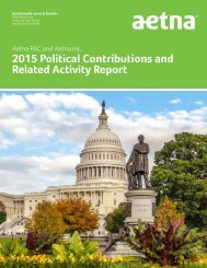 2015 Political Contributions and Related Activity Report