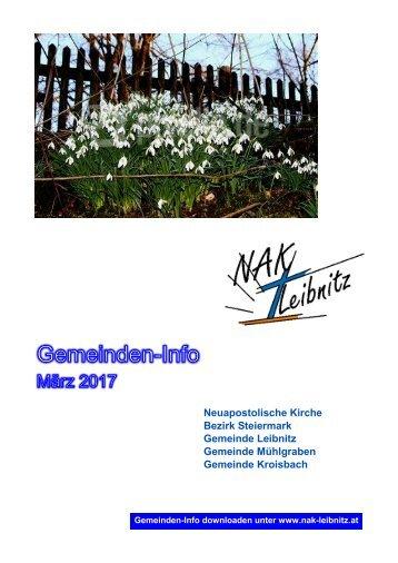 Gemeindeinfo März 2017