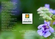 Aussteller- Verzeichnis - Calendula Kräutergarten