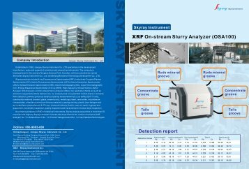 XRF On-stream Slurry Analyzer (OSA100) - CNUK commercial UK