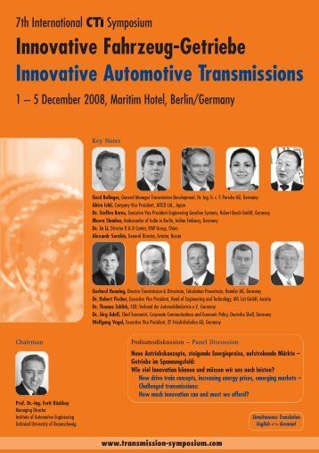 Innovative Fahrzeug-Getriebe Innovative Automotive Transmissions