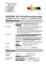 RUCOPUR DS 2K-PUR-Dickschichtemaille