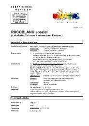 RUCOBLANC spezial