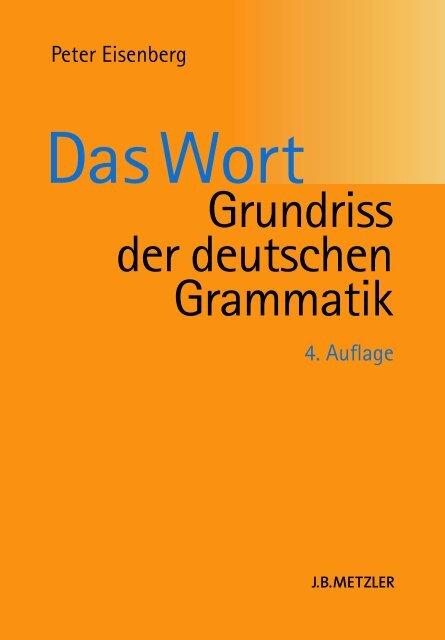 Das Wort Grundriss der deutschen Grammatik, Peter Eisenberg