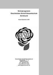 Schulprogramm Geschwister-Scholl-Gesamtschule Dortmund