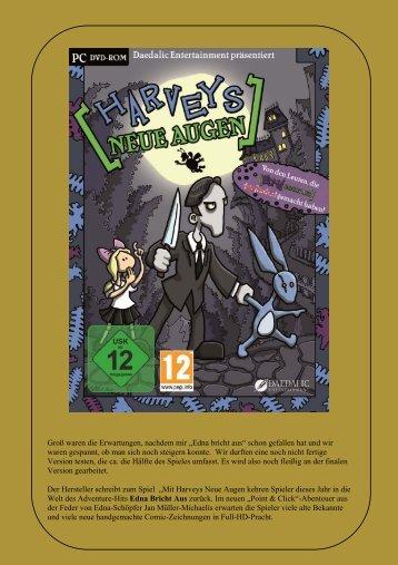 Harvey Neue Augen - Preview zum Spiel - Gamepad.de