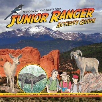 Garden of the Gods Park  Junior Ranger Activity Guide