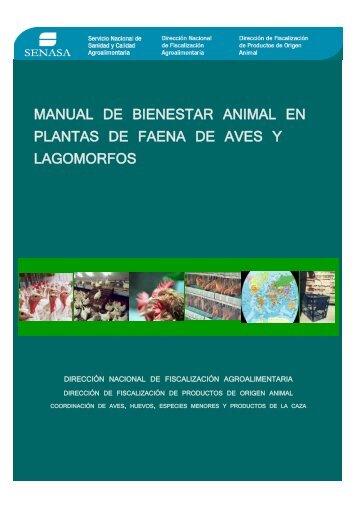 Manual de Bienestar Animal en Plantas de Faena - Senasa