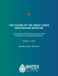 THE FUTURE OF THE GREAT LAKES RESTORATION INITIATIVE