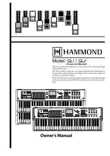 SK-1E Owner's Manual
