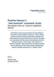 Pauline Hanson's 'neo-Austrian' economic brain