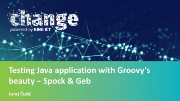 Testing Java application with Groovy's beauty – Spock & Geb